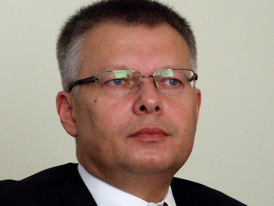 Janusz Kaczmarek w warszawskim oddziale RMF FM.  /Fot. Olga Wasilewska /RMF FM