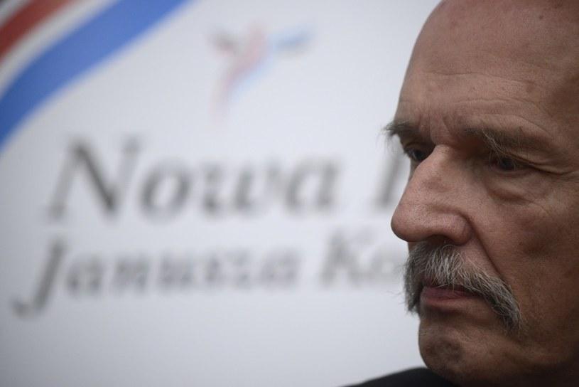 Janusz Korwin-Mikke - lider Nowej Prawicy. /Jakub Wosik  /Reporter