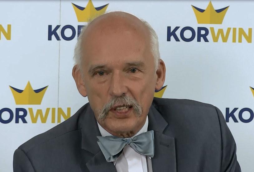 """Janusz Korwin-Mikke: """"Trzeba ludziom wyjaśnić, nad czym mają głosować"""" /INTERIA.PL"""