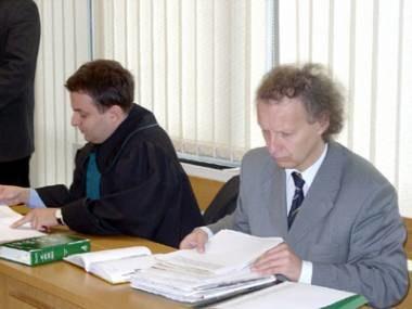 Janusz Majcherek ze swoim obrońcą Wojciechem Bergierem /INTERIA.PL