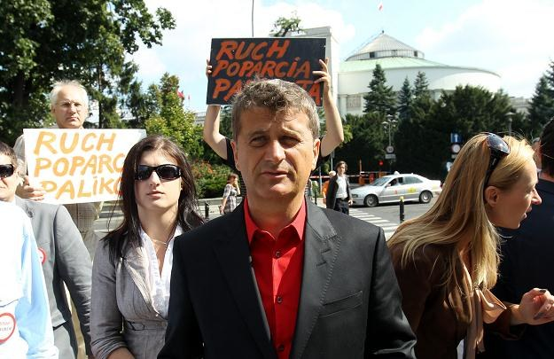 Janusz Palikot i jego ruch poparcia / fot. R. Pietruszka /PAP