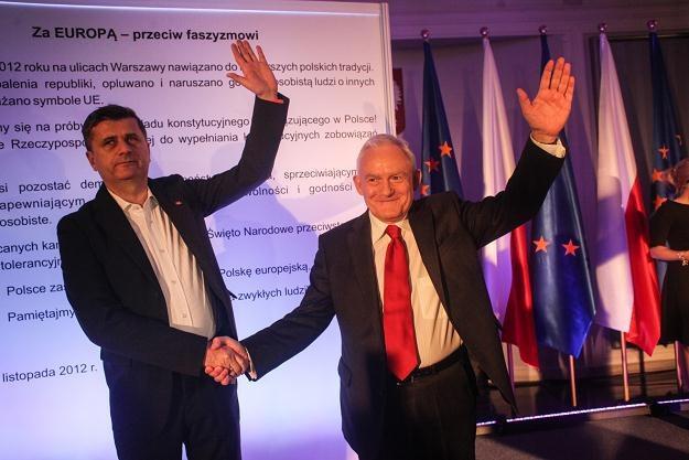 Janusz Palikot i Leszek Miller /PAP