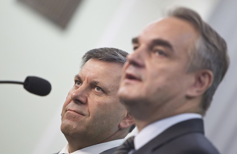 Janusz Piechociński i Waldemar Pawlak /Andrzej Stawiński /Reporter