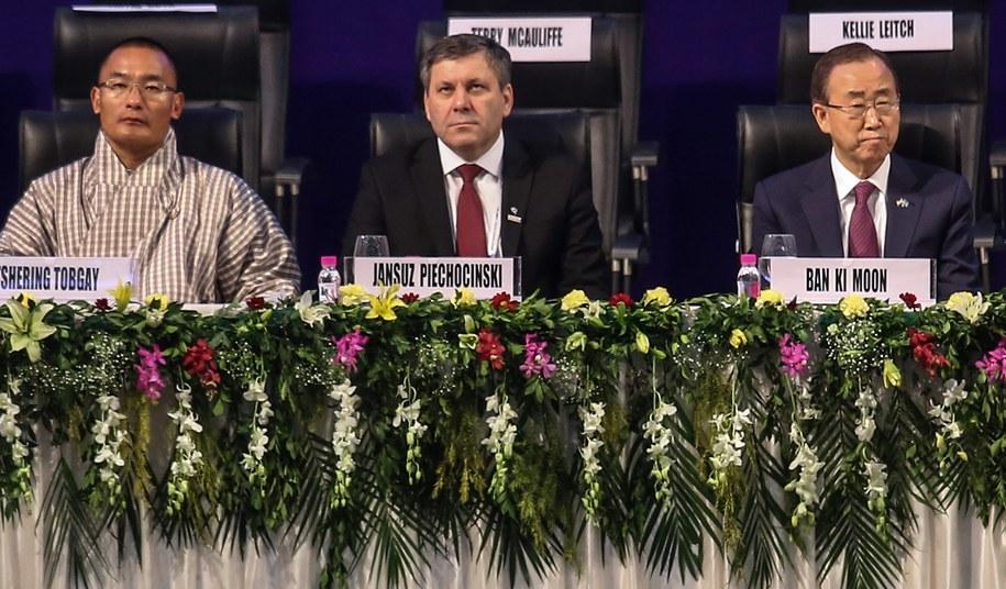 Janusz Piechociński na konferencji w Indiach /DIVYAKANT SOLANKI /PAP/EPA