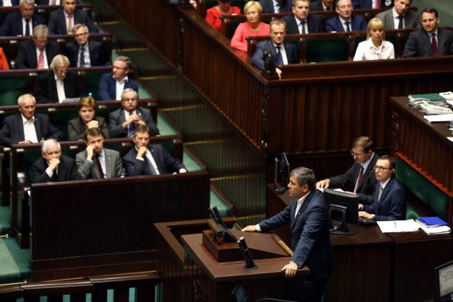 Janusz Piechociński na mównicy sejmowej /PAP/Tomasz Gzell /PAP