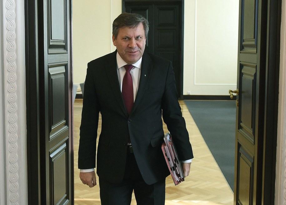 Janusz Piechociński na posiedzeniu rządu /Radek Pietruszka /PAP