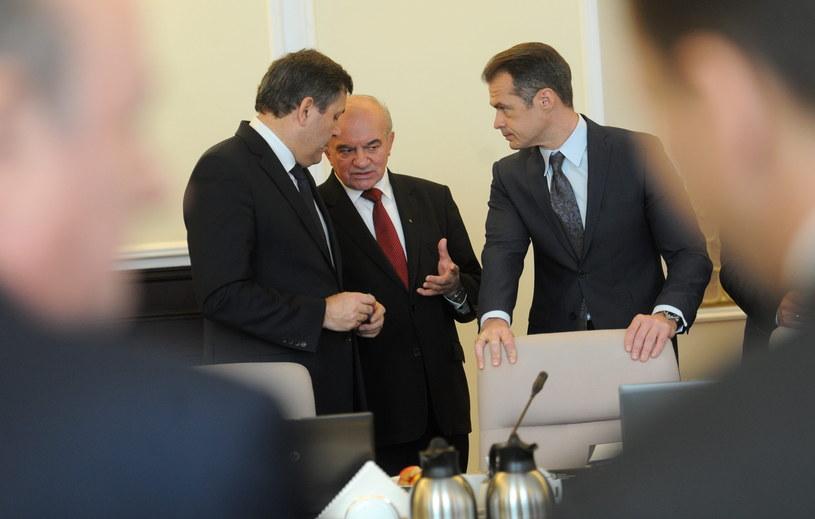 Janusz Piechociński, Stanisław Kalemba i Sławomir Nowak /Bartłomiej Zborowski /PAP