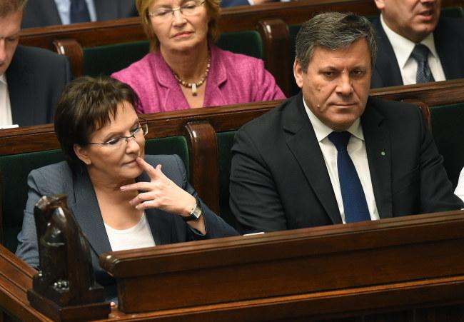 Janusz Piechociński w ławach rządowych /PAP/Radek Pietruszka    /PAP