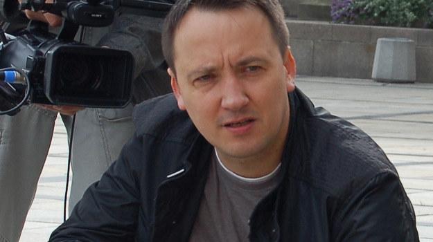 "Jarek Rybus na planie filmu ""Blogersi"" /materiały prasowe"