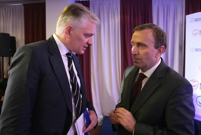 Jarosław Gowin i Grzegorz Schetyna /Stefan Maszewski /Reporter