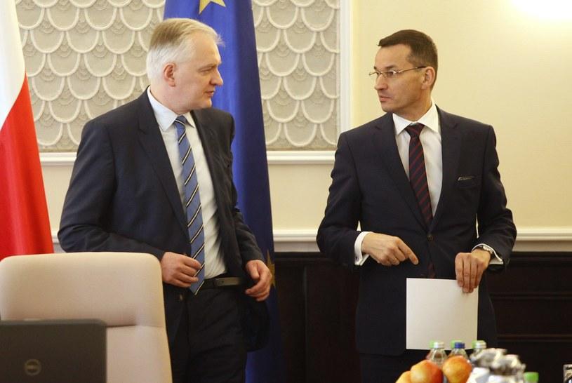 Jarosław Gowin i Mateusz Morawiecki /Stefan Maszewski /Reporter