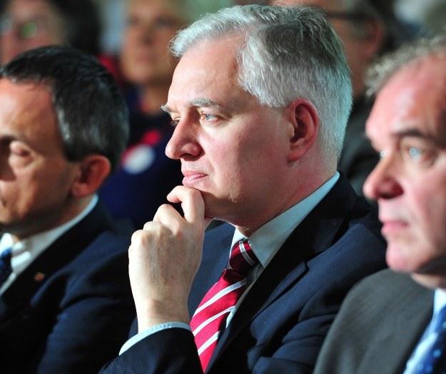 Jarosław Gowin popiera stanowisko Jarosława Kaczyńskiego /Marcin Bielecki /PAP