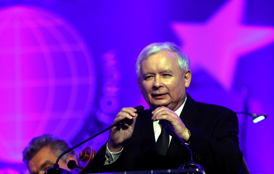 Jarosław Kaczyński dziękuje za wyróżnienie /Grzegorz Momot /PAP
