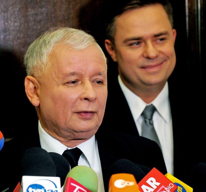 Jarosław Kaczyński i Adam Hofman /Jan Bielecki /East News
