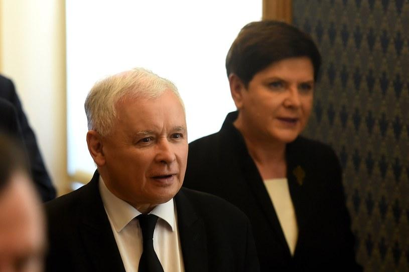 Jarosław Kaczyński i Beata Szydło /Mateusz Jagielski /PAP