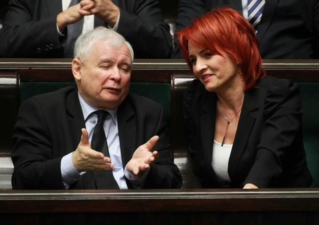 Jarosław Kaczyński i Bernadeta Krynicka /Stanisław Kowalczuk /East News