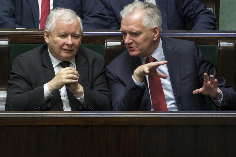 Jarosław Kaczyński i Jarosław Gowin /Andrzej Iwańczuk /Reporter