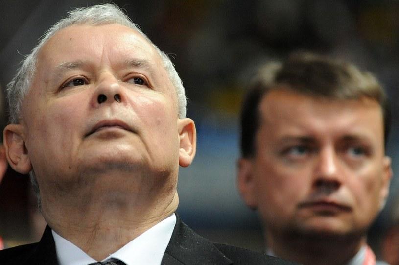 Jarosław Kaczyński i Mariusz Błaszczak Fot. Wojciech Strozyk/REPORTER /East News