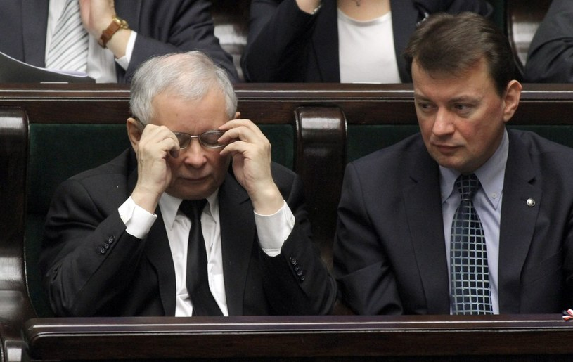 Jarosław Kaczyński i Mariusz Błaszczak /Witold Rozbicki /Reporter