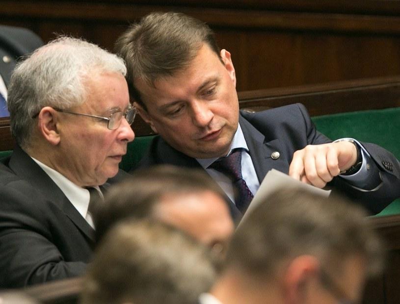 Jarosław Kaczyński i Mariusz Błaszczak /Andrzej Iwańczuk /Reporter