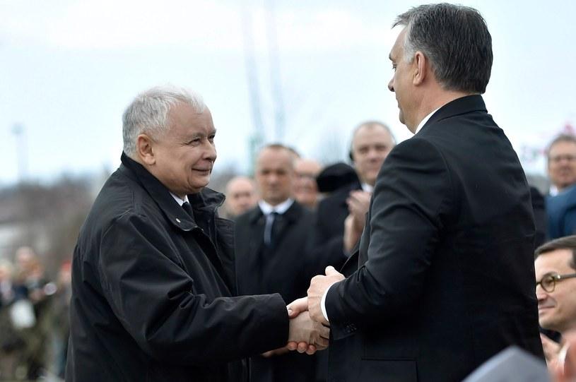 Jarosław Kaczyński i Viktor Orban w Budapeszcie /AP /East News
