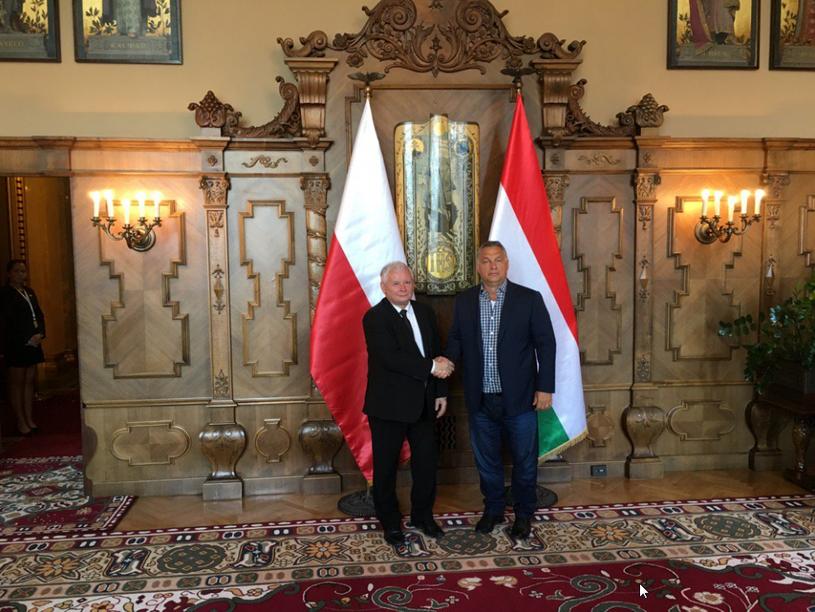 Jarosław Kaczyński i Viktor Orban, zdjęcie pochodzi z profilu Joachima Brudzińskiego na Twitterze /Twitter