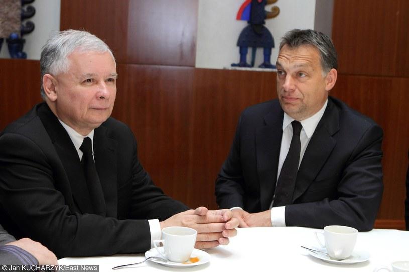 Jarosław Kaczyński i Viktor Orban /Jan Kucharzyk /East News