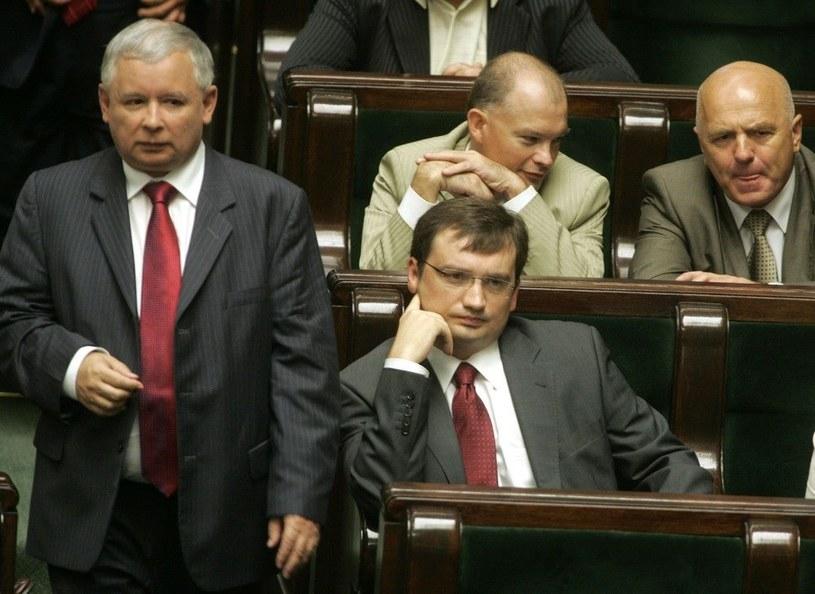 Jarosław Kaczyński i Zbigniew Ziobro /M. Macierzyński /Reporter