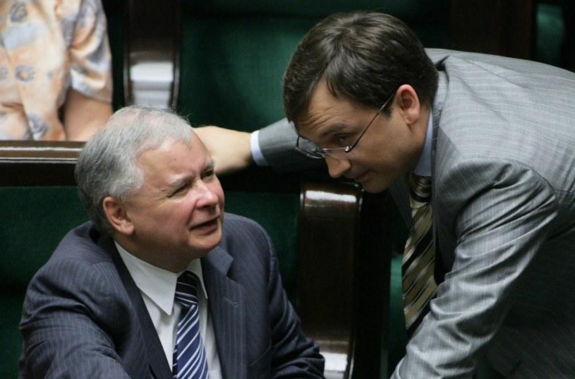 Jaroslaw Kaczyński i Zbigniew Ziobro /Stefan Maszewski /Reporter