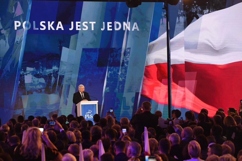Jarosław Kaczyński na konwencji PiS /Radek Pietruszka /PAP