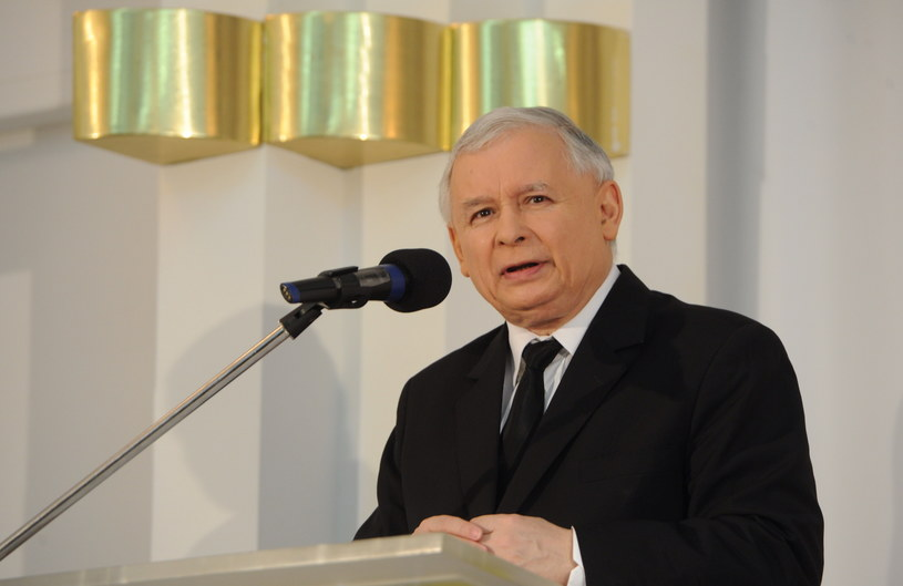 """Jarosław Kaczyński podczas konferencji PiS pt. """"Parlament Europejski. Jak skutecznie walczyć o polskie sprawy"""" /Grzegorz Jakubowski /PAP"""