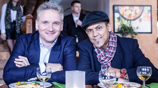 """Jarosław Kret i Jose Torres w gościnnych rolach w """"Galerii"""" /Grzegorz Gołębiowski /ATM"""