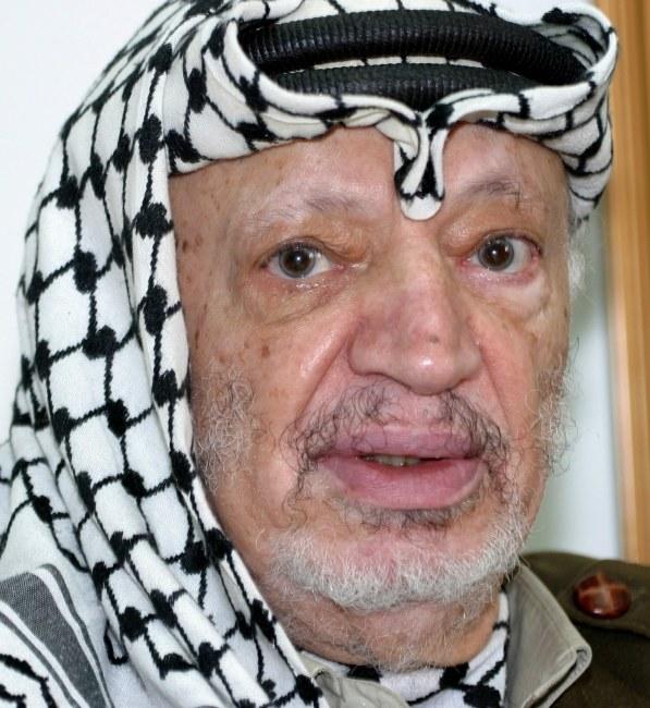 Jaser Arafat /ATEF SAFADI  /PAP/EPA