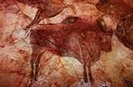 Jaskinia Altamira, czerwono-czarne bizony /Encyklopedia Internautica