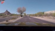 Jazda brawurowa kierowcy. Scena jak z filmu akcji