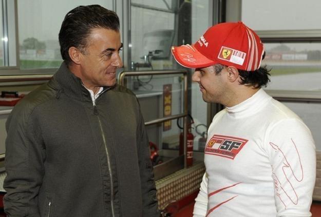 Jean Alesi (z lewej) i Felipe Massa. /AFP