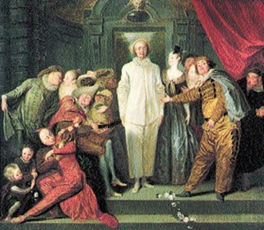Jean Antoine Watteau, Włoscy komedianci, 1720 r. /Encyklopedia Internautica