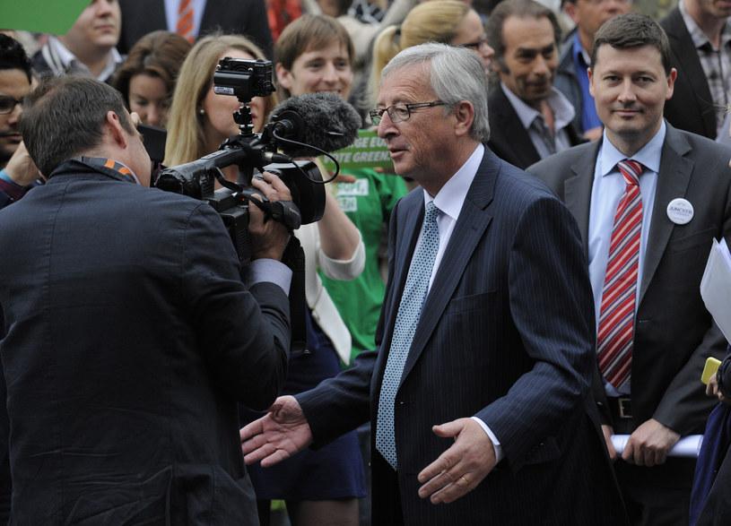 Jean-Claude Juncker podczas debaty /AFP