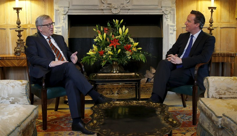 Jean-Claude Juncker u Davida Camerona /AFP