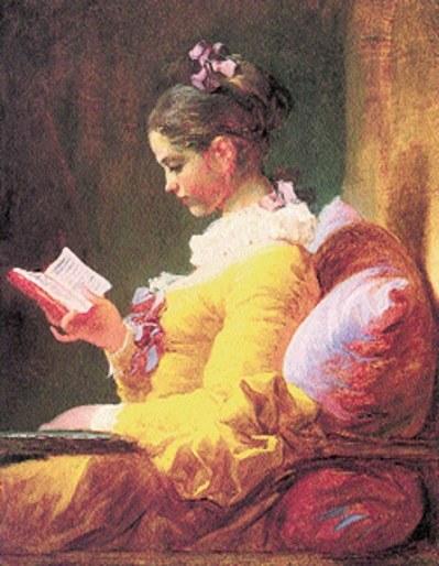 Jean-Honoré Fragonard, Czytająca dziewczyna /Encyklopedia Internautica