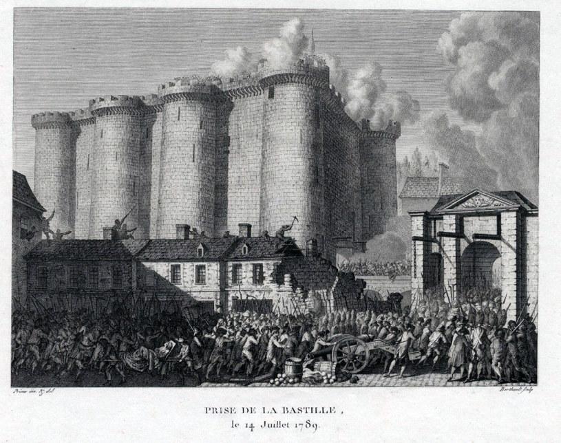 """Jean-Louis Prieur (1759-1795) """"Zdobycie Bastylii 14 lipca 1789 r."""" /Biblioteka Narodowa"""