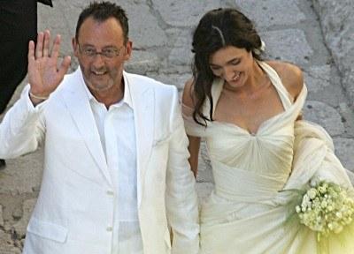Jean Reno ze swoją małżonką /AFP