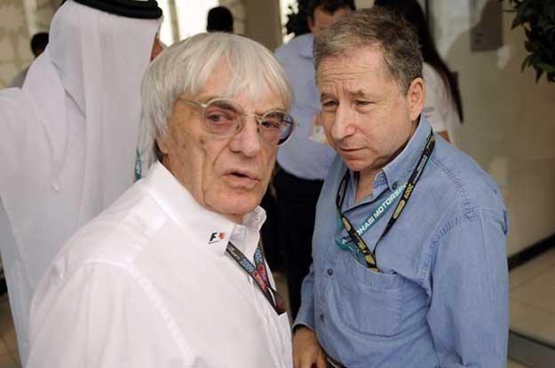 Jean Todt (z prawej)  i Bernie Ecclestone /AFP