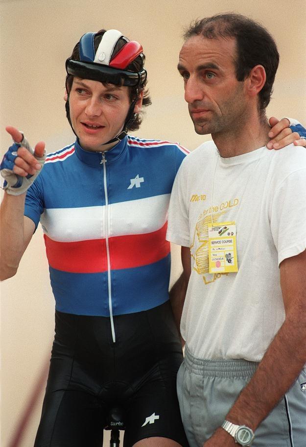 Jeannie Longo (z lewej) i Patrice Ciprelli /AFP