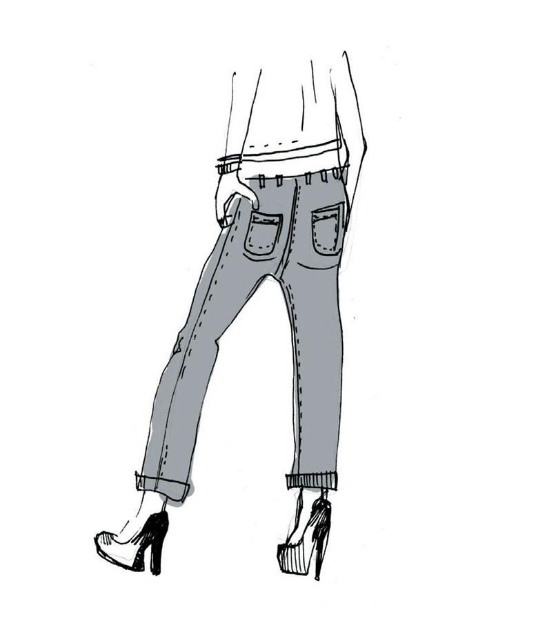 Jeansy z  obniżonym stanem skrócą pupę /materiały prasowe
