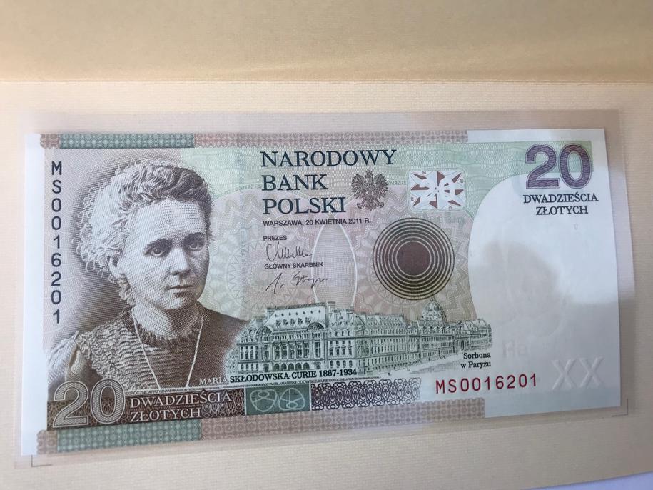 Jeden z banknotów kolekcjonerskich /Krzysztof Kot /RMF FM