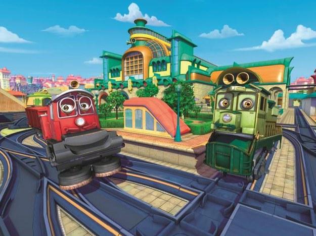 Jeden z bohaterów bajki – lokomotywa Koko – ma dobre serce. Teraz weźmie kurs za Hektora, który ma problemy techniczne. /Mat. Prasowe