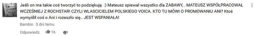 Jeden z komentarzy, sugerujących, że Grędziński nie wygrał uczciwie /