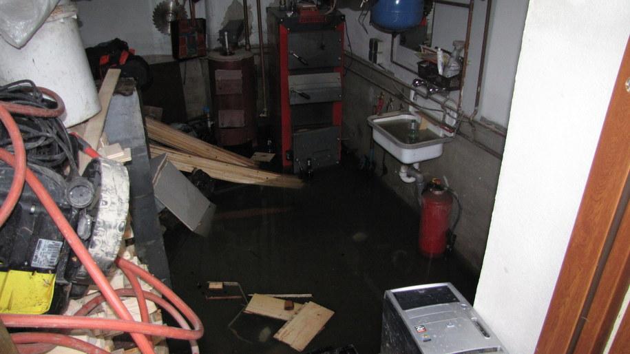 Jeden z zalanych domów w Jordanowie /Józef Polewka /RMF FM