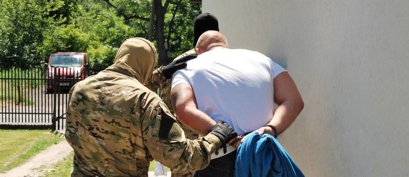 Jeden z zatrzymanych członków grupy (fot. Straż Graniczna) /RMF